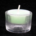 Ribbed Glass Tealight Holder